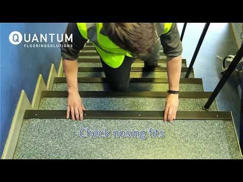 How To: Correctly install a stair nosing (stair edging)