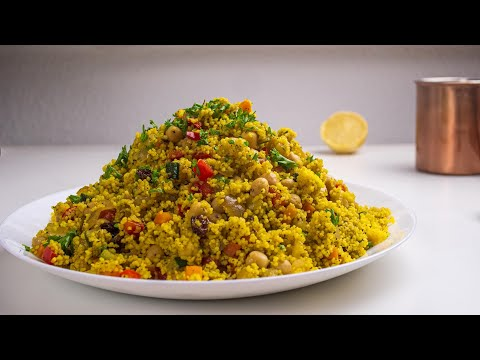 Moroccan Couscous Salad With Chickpeas - Vegan Recipe