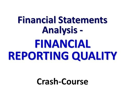 FINANCIAL STATEMENT ANALYSIS   Syllabus   ADVANCED  12 FINANCIAL REPORTING QUALITY