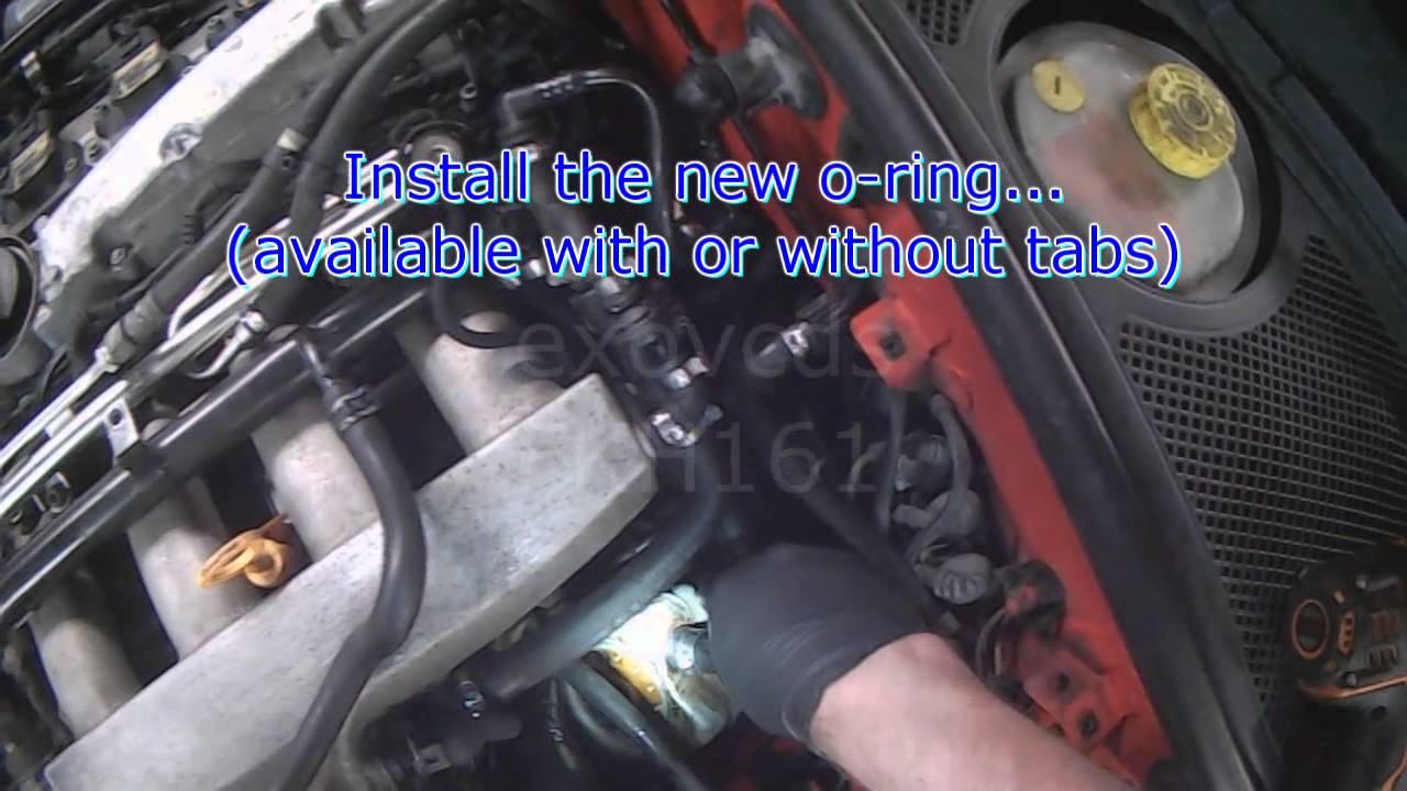 1999 Vw Passat Engine Diagram Ford Ka Mk2 Radio Wiring Audi B5: 1.8t Oil Cooler Seal Replacement - Youtube