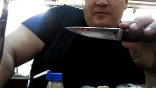 нож самодельный, типа кованый)