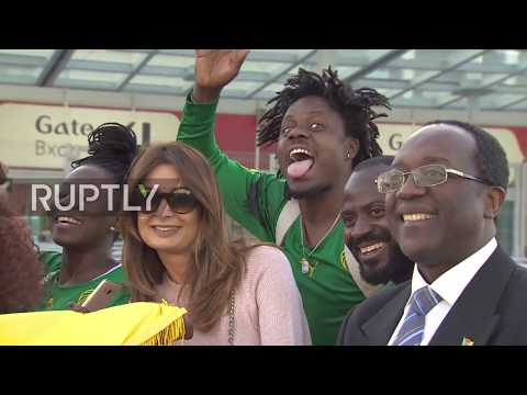 Russia: Cameroon supporters dance their hearts out ahead of Confederations Cup kick off