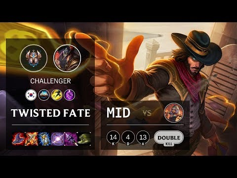 Twisted Fate Mid vs Qiyana - KR Challenger Patch 10.11