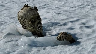 Melting Glaciers Revealing Corpses