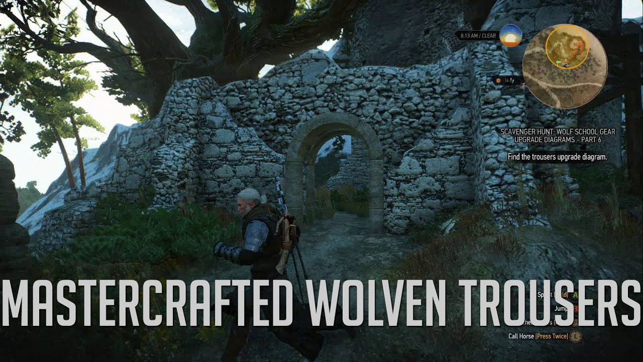 witcher 3: mastercrafted wolven trousers diagram location