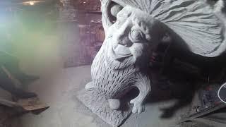 гипсовый Светильник в виде головы дракона своими руками. Скульптура Дракона: Отрасль моего бизнеса