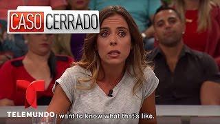 Official video of Telemundo content Caso Cerrado. A woman asks her ...