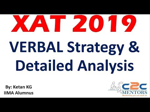 XAT 2019 Verbal Strategy - How to prepare for XAT Verbal and Important Verbal topics