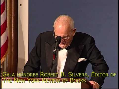 Annual Gala Dinner 2013: Robert B. Silvers, Editor, The New York Review of Books