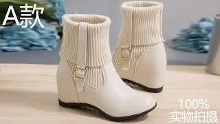 Модные женские ботильоны новинка весны 2021 стильные кожаные ботинки женская обувь на танкетке