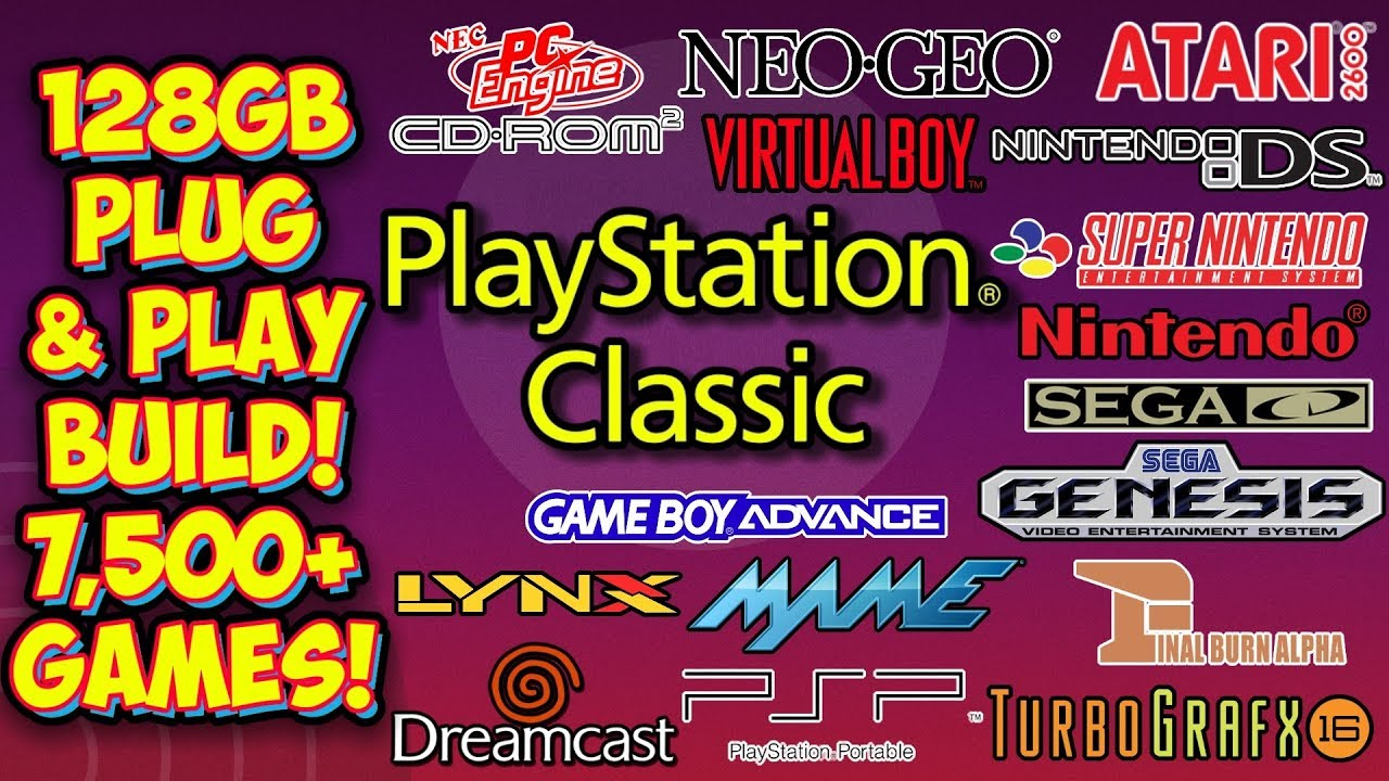 PlayStation Classic 128GB Retro Console Plug & Play USB Drive Build