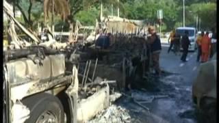 Bus, Cars Engulfed In Flames in Wangsa Maju