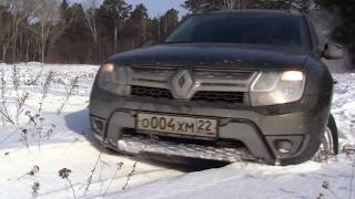 Работа имитаций блокировок Renault Duster в снегу.