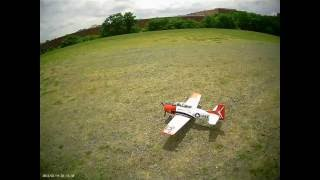 e flite t 28 trojan maiden flight oh boy