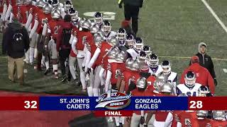 1st Amendment Sports WCAC Game of the Week: St Johns vs Gonzaga Football