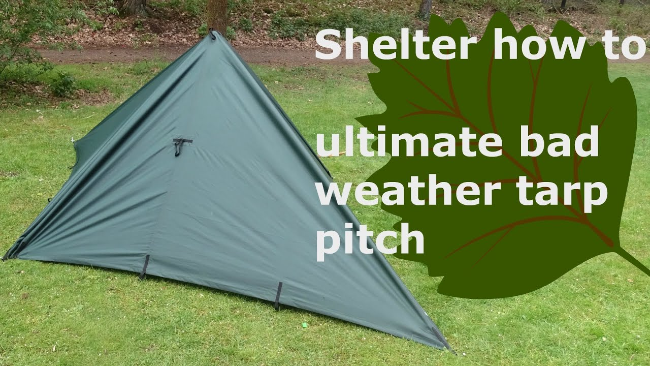 ultimate tarp shelter how to enclosed pyramid & ultimate tarp shelter how to: enclosed pyramid - YouTube