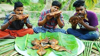 YUMMY FISH FRY !!! Full Red Piranha fish Fry Cooking & Eating delicious | Village Food Channel