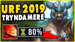 *ZERO CD SPINS* RANK 1 TRYNDAMERE IN URF 2019!!! (THIS ISN'T FAIR) - League of Legends