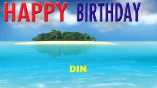 Din  Card Tarjeta - Happy Birthday