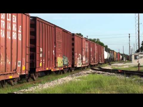 Golden Triangle Railroad GP38-2 #810 leads a freight at Columbus, Mississippi