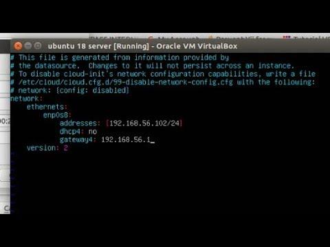 Konfigurasi ip address ubuntu server 18.04