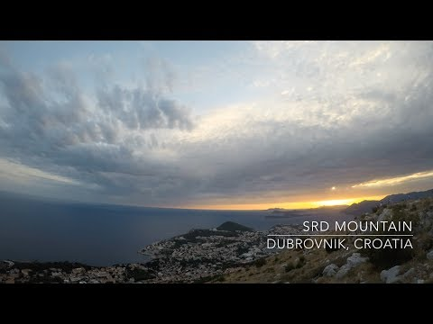 Beautiful Sunset over Dubrovnik, Croatia Timelapse