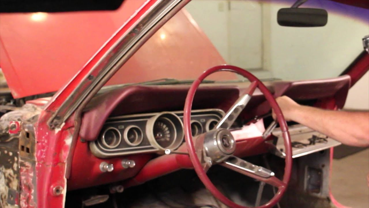 1966 Mustang Convertible Wiring Diagram How To Remove Dash On 1966 Mustang Youtube
