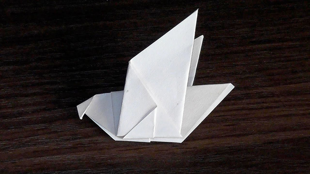 How to make dove of paper ☛ with their hands for beginners ... - photo#46