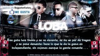 "J Alvarez Ft. Carnal, Farruko , Gotay - ""Loba Remix"" con Letra ★ New Reggaeton 2011 / 2012★"