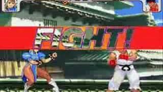 Mugen SF3 Battles: Chun Li vs Ryu