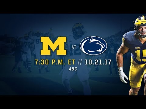 Michigan VS PSU 2017 Hype Video