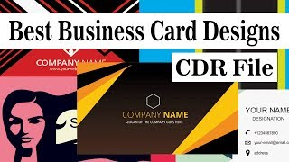 50 Best Business / Visiting Card Designs CDR FIle (CorelDRAW)