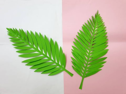 How to make paper leaves - Easy paper craft  - DIY decoration