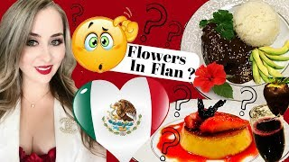 Mexican Chocolate Mole | Hibiscus Flan | V-Day Food |  Chocolate & Flowers