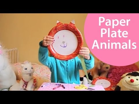 How To Make Paper Plate Animals Craft Show For Kids Youtube