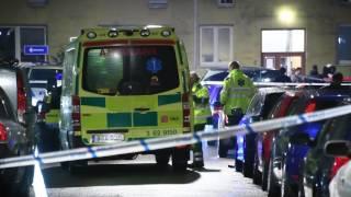 Ambulanstransport efter misstänkt skottlossning på Seved
