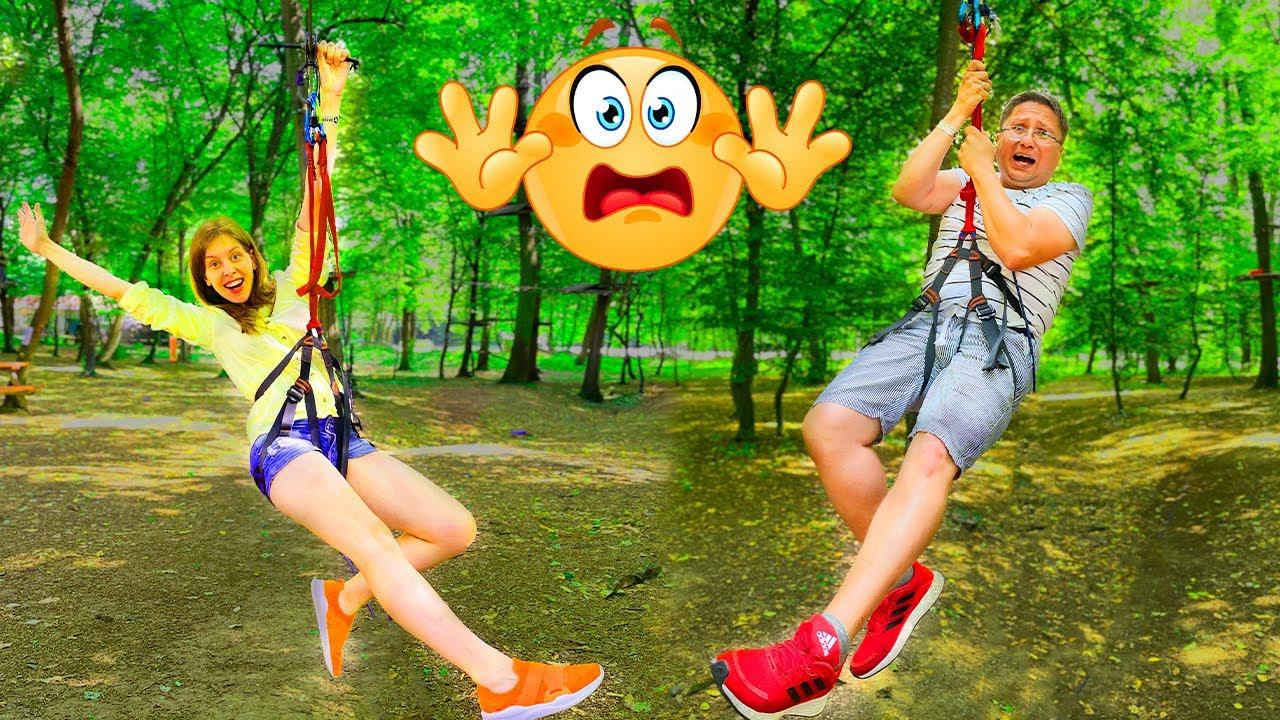😲 Cea mai MARE SPERIETURĂ 😱  în Aventura Park pe TIROLIANĂ 🧗