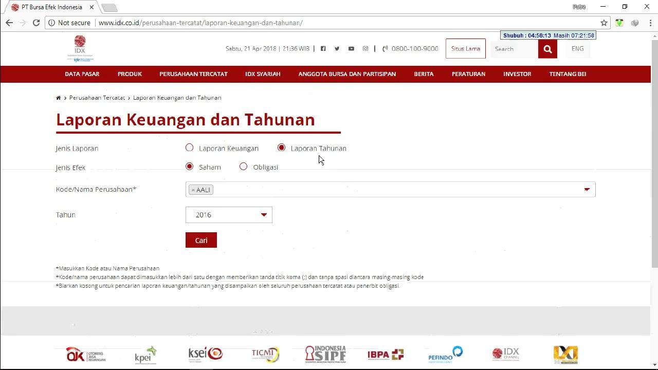 Cara Download Laporan Tahunan Dan Keuangan Di Situs Baru Atau Website Baru Bursa Efek Indonesia Youtube