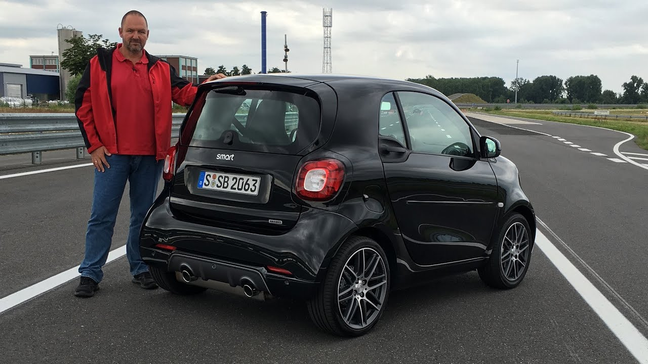 smart brabus fortwo 2016 im test fahrbericht review. Black Bedroom Furniture Sets. Home Design Ideas
