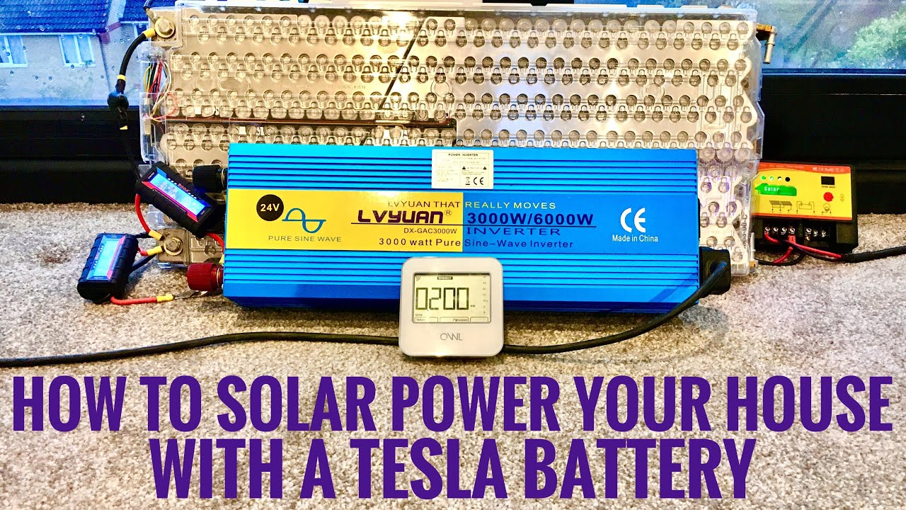 How to use a Tesla Battery to Power your House