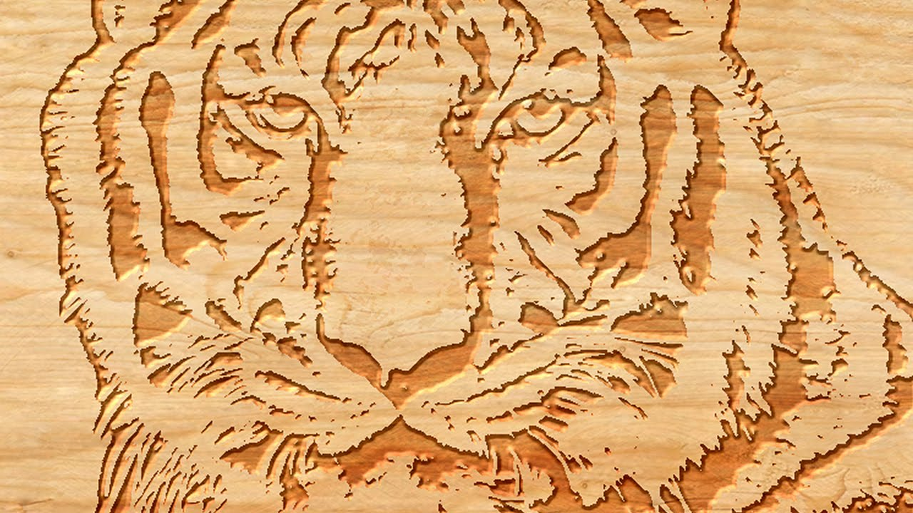 Photoshop how to make a woodcut from a photo youtube How to make designs in wood