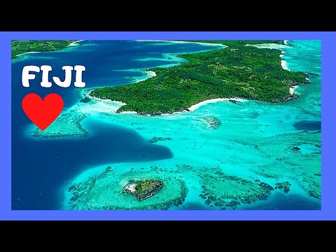 FLYING ABOVE the ISLANDS of FIJI and landing in the city of NADI (Pacific Ocean)