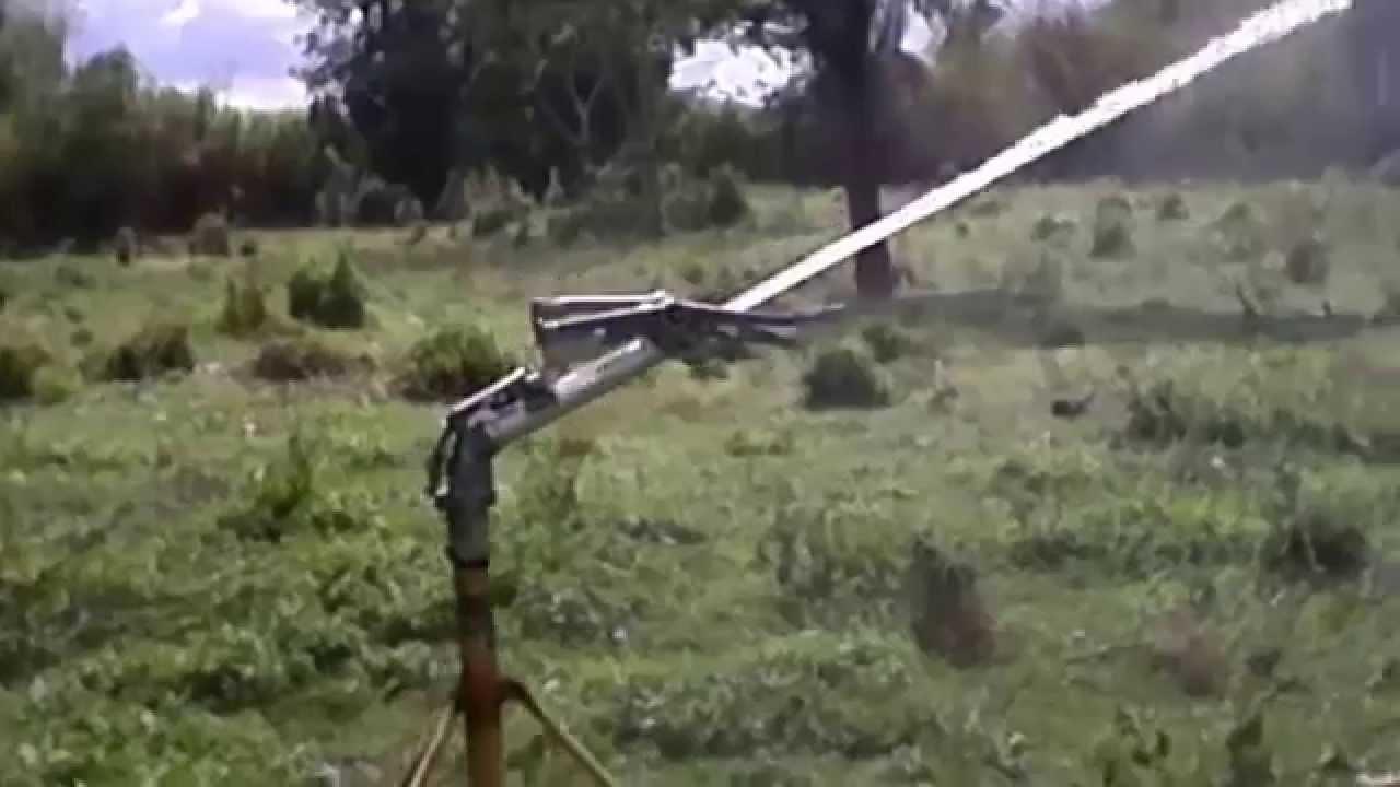 aspersor agricola de brazo oscilante rb 750 youtube