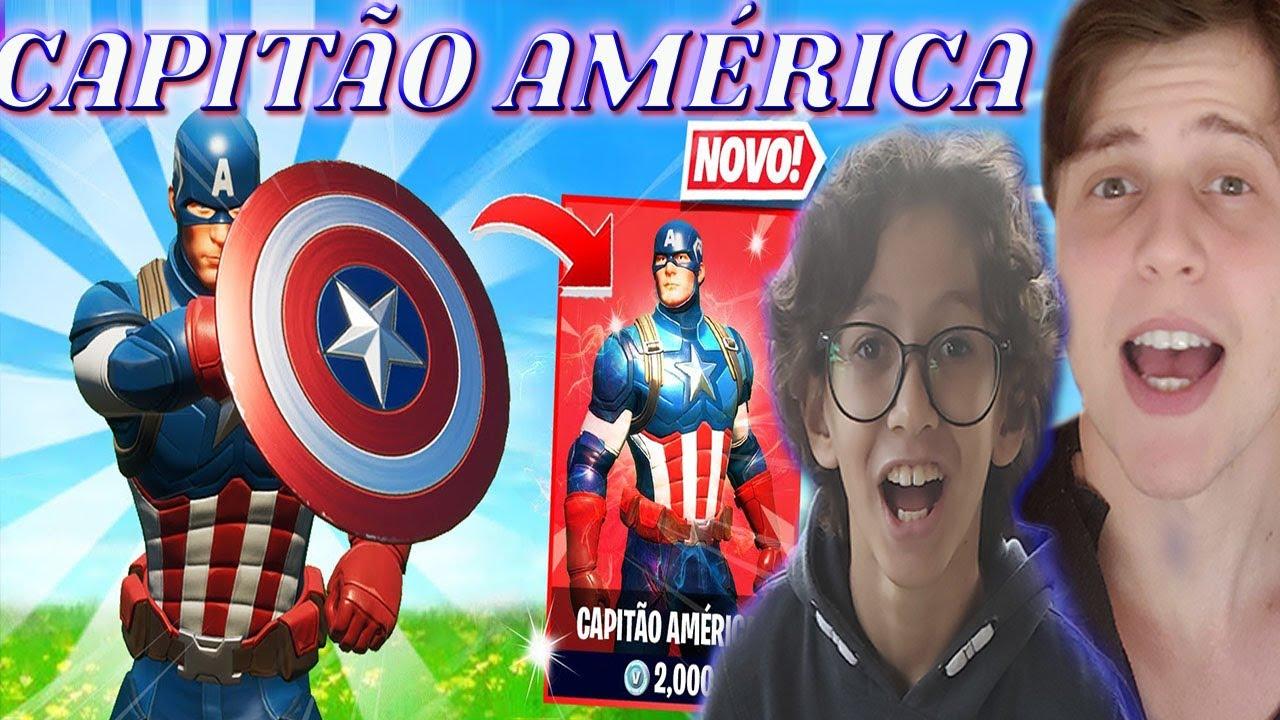 FORTNITE CAPITÃO AMERICA  | JOGANDO COM A NOVA SKIN DO CAPITÃO AMÉRICA  | GAMEPLAY E CURIOSIDADES