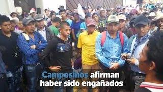 Campesinos afirman haber sido engañados para protestar frente a la Cicig | Prensa Libre