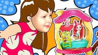Enchantimals — набор Лесной домик панды Дрю Кролик Брю Кукла Енчантималс Kids Video