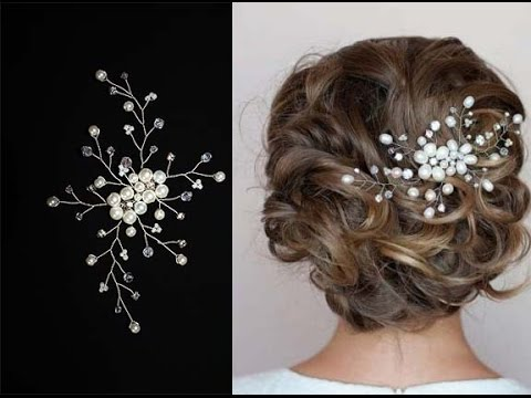 Tutorial Hair Piece Pearl Pin Comb Accessory Vine