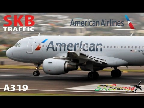 American Airlines A319 departing St. Kitts Robert L. Bradshaw Int'l Airport