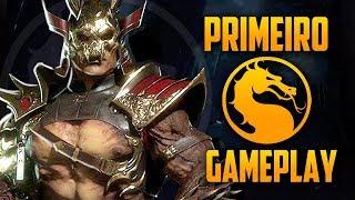 Shao Kahn primeiro gameplay, é só martelada, novo Fatality - Mortal Kombat 11