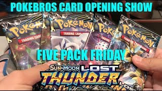 Five Pack Friday: Pokemon Lost Thunder (Prerelease)